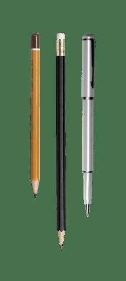 pencil and pen copy